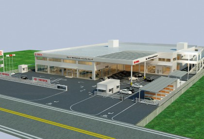 Construction project of Asphalt road and other derived works for Toyota Hiroshima Vinh Phuc – HT Showroom