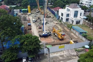 Update construction progress – Lakeside Service Apartment (Myanmar) project in July 2020