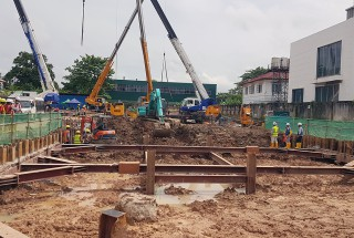 Update construction progress – Lakeside Service Apartment (Myanmar) project in August 2020
