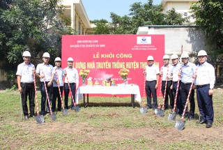 Groundbreaking ceremony for construction of Traditional building project of Tho Xuan district